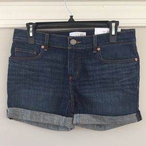 Relaxed Skinny Jean Shorts